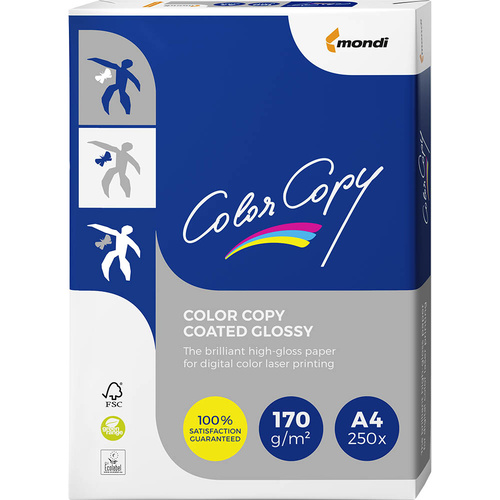 Color Copy Coated Copy Paper A4 170gsm 250 Ream Pack - White