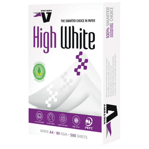 Victory A4 Copy Paper 80gsm 500 Sheets - White