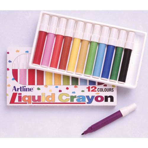 Artline Colour Liquid Crayon - 12 Pack