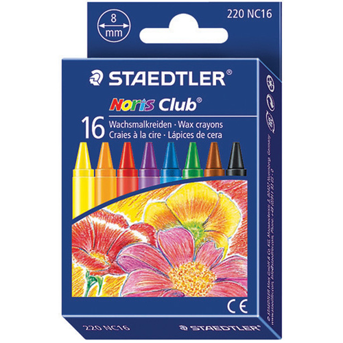 Staedtler Crayons Noris Club Waterproof Wax Pack 16