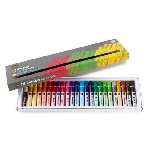 EC Oil Pastels Artists Crayons Jumbo - 24 Pack