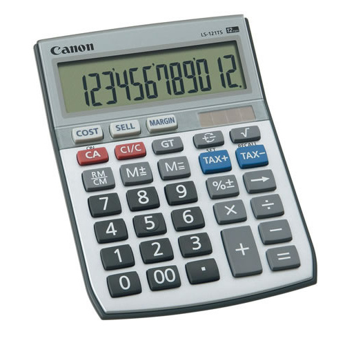Canon Calculator LS121TS 12 Digit Dual Power