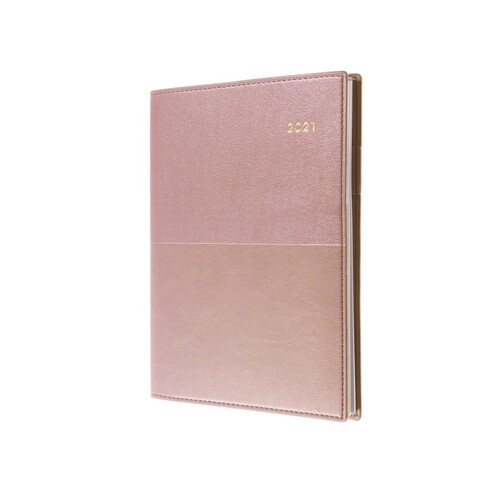Collins A5 Month To View 2021 Vanessa Diary - Rose Gold