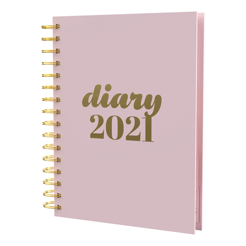 Collins 2021 Diary Collins Scandi A5 Day to Page PW51.50 - Pink