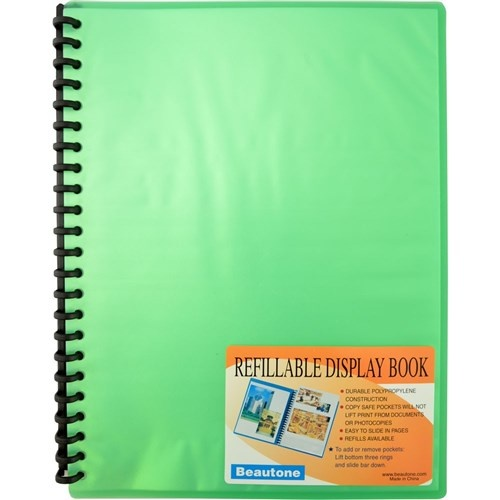 Beautone A4 Display Book 20 Page - Cool Frost Green
