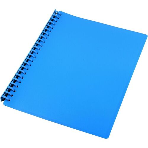 10 X Display Book A4 Refillable 20 Page BULK BUY - Blue