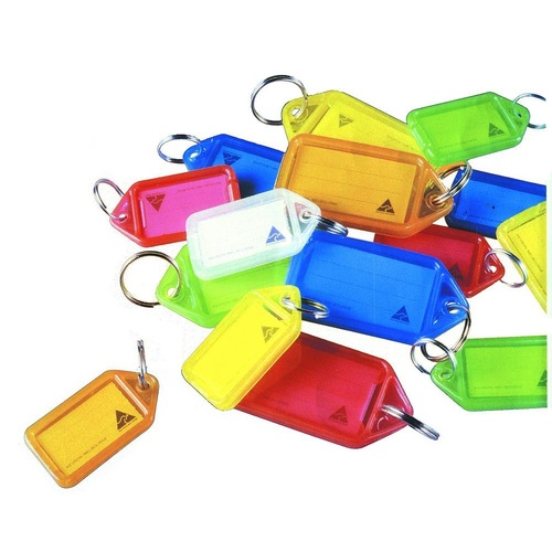 50 X Kevron Keytags ID Tag Key Ring Labell - Assorted