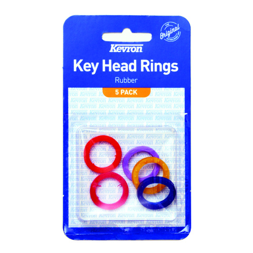Kevron Key Head Identification Rings Pack 5 - Assorted Colours