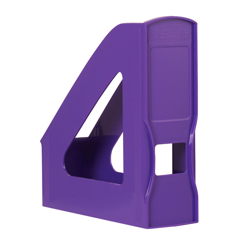 8 x Esselte Nouveau Magazine Holder Stand Storage - Purple