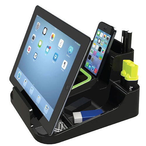 Esselte Desk Accessory Smart Caddy Organiser For Phone Or Tablet - Black