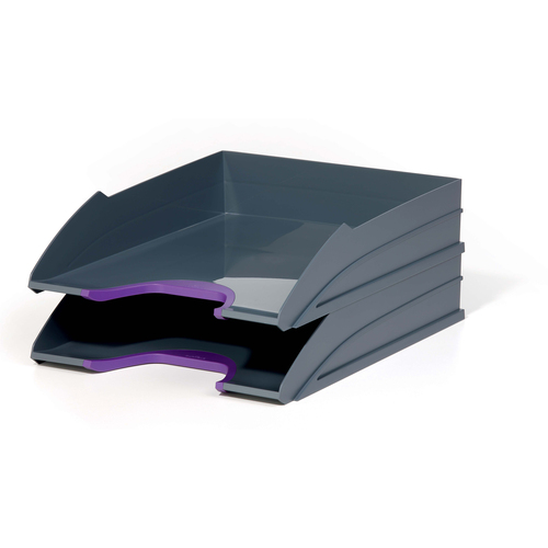 Durable Varicolor Letter Tray Set 2 - Purple