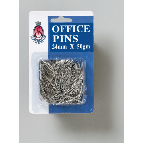 Sovereign Office Pins 24mm 50 Grams - Silver
