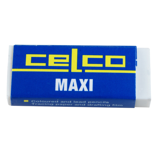 Celco Eraser Rubber Maxi PVC Latex Free Smudge Free Box 20 - 0278960