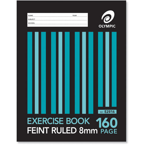 Olympic Exercise Book Sewn Feint Ruled 160pg