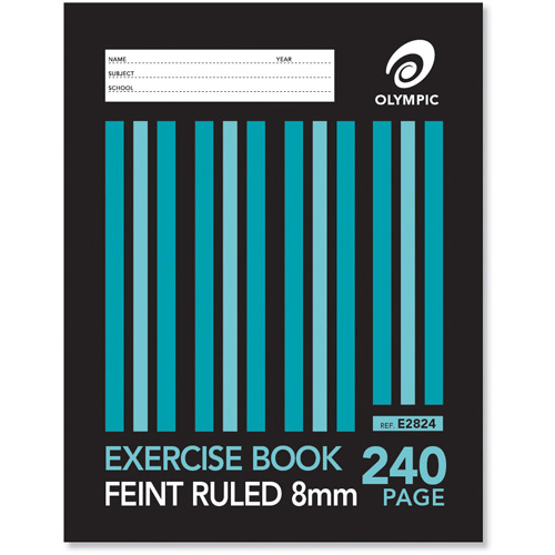 Olympic Exercise Book Sewn Feint Ruled 240pg