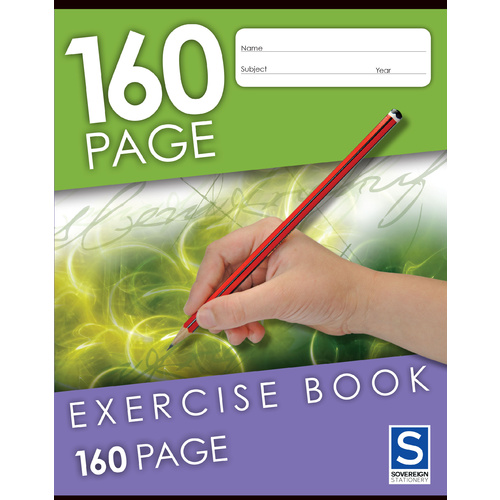 GNS Exercise Book 225x175mm 8mm Ruled 160 Page - 10 Pack
