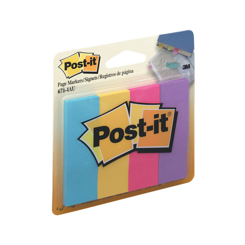 Post- It Page Markers 671-4au - Assorted Ultra