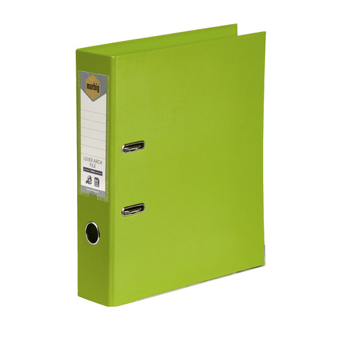 Marbig A4 Lever Arch File PE Linen - Lime
