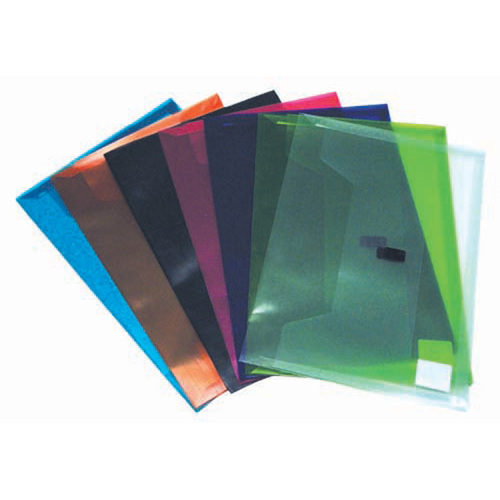 Colby Foolscap Pollywally Document Wallet/File Durable P327F 12 Pack - Assorted