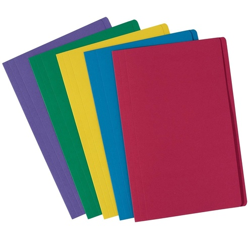 Avery Foolscap Manilla Folder 10 Pack -  Assorted Colours