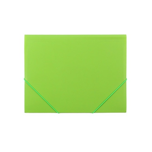 Beautone A4 Poly Document Wallet With Elastic - Lime