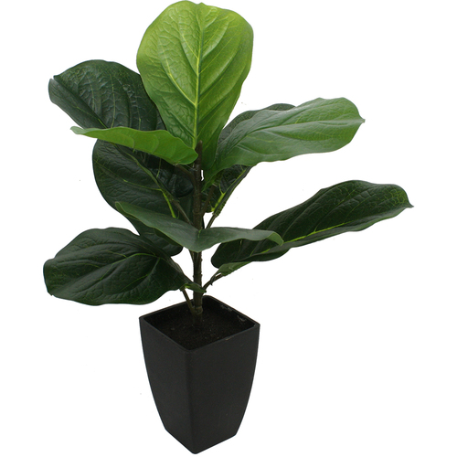 Artificial Potted Faux Fiddleleaf Fig Tree Plant - 46cm