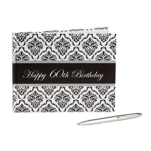 Guest Book With Pen 60th Birthday - Unisex