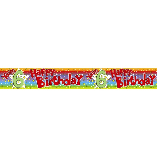 Alpen Banner The Expression Factory 2.6m - Happy Birthday You're 6