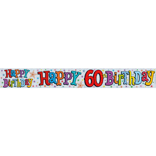 Alpen Banner The Expression Factory 2.6m Happy Birthday - Happy 60th Birthday