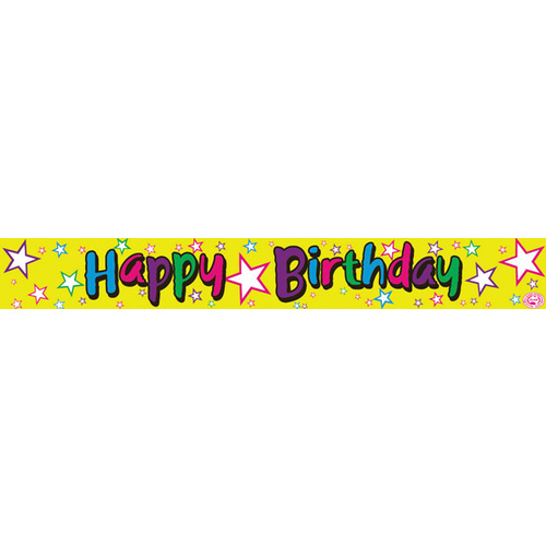 Alpen Foil Banner 360cm Happy Birthday