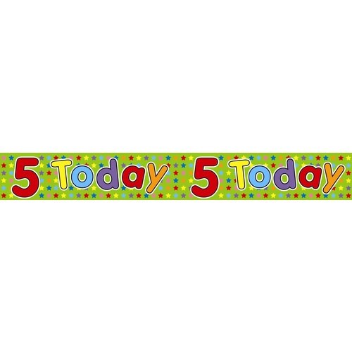 Alpen Banner The Expression Factory 2.6m Happy Birthday - 5 Today