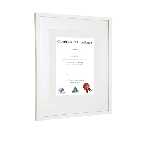 Profile Photo Frame Picture Frame A3 Decor Certificate Frame - White