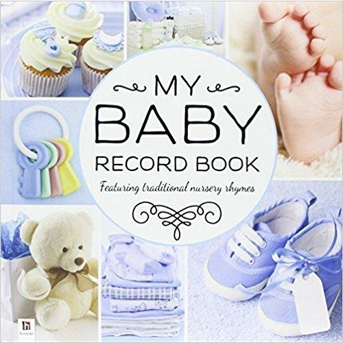Book Hinkler My Baby Record Blue