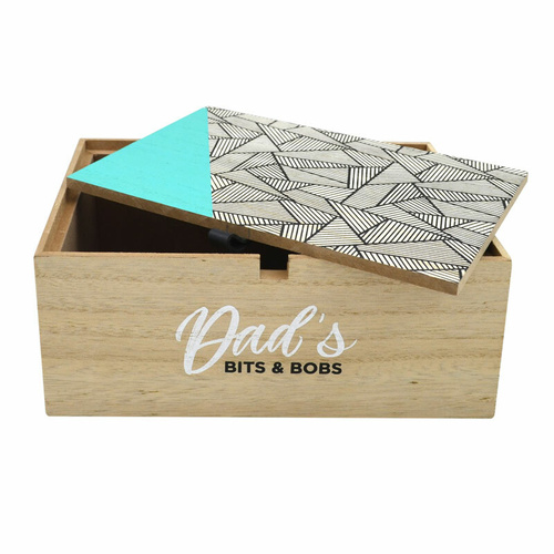 Suda By Design Wooden Bits n Pieces Box - Abstract Lines