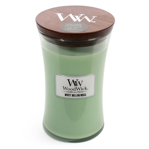 Woodwicks Hearthwick 610g Candle Premium Soy Wax - White Willow Moss