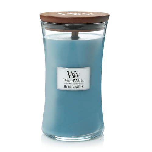 Woodwicks Hearthwick 610g Candle Premium Soy Wax - Sea Salt & Cotton