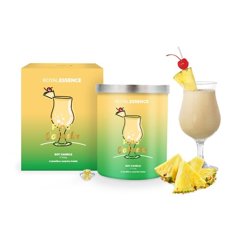 Royal Essence 400g Soy Candle - Pina Colada (Necklace)