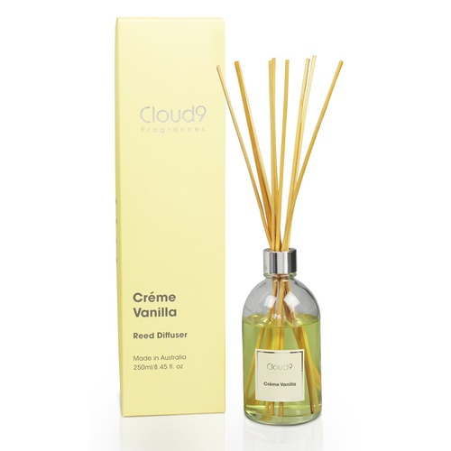 Australian Made Scented Natural Rattan Reed Diffuser - Creme Vanilla