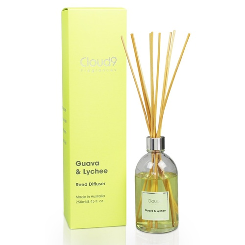 Australian Made Scented Natural Rattan Reed Diffuser - Guava & Lychee