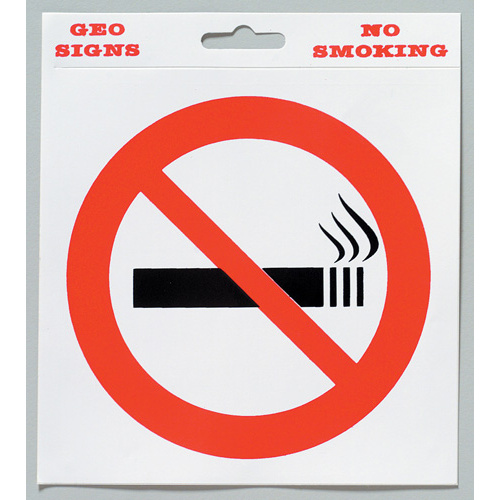 "Geographics No Smoking Sign Adhesive 5x6"" x 6x7"" 5 Pack"