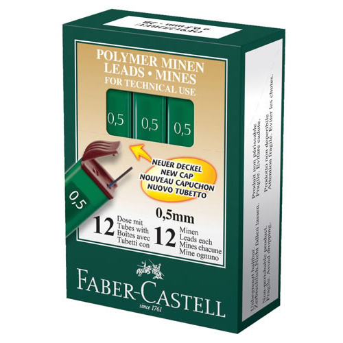 Faber Castell HB Lead refill Mechanical  Pencil 0.5mm - 12 Pack