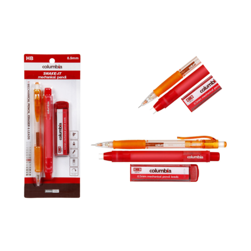 Columbia HB Lead Shake It Mechanical  Pencil 0.5mm Plus Eraser & Lead