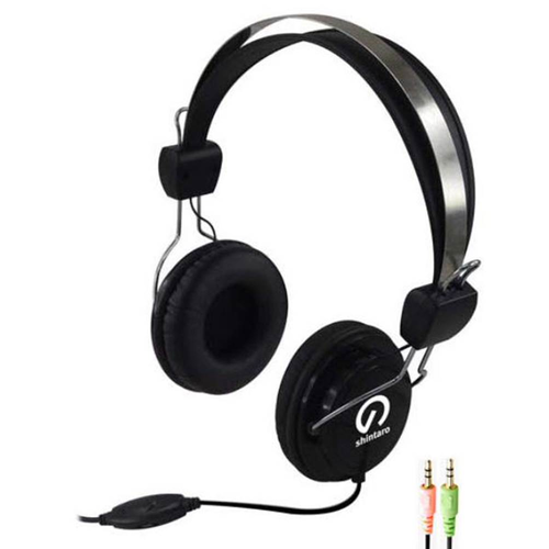Shintaro Multimedia Lightweight And Comfortable Headphones Headset With Boom Mic