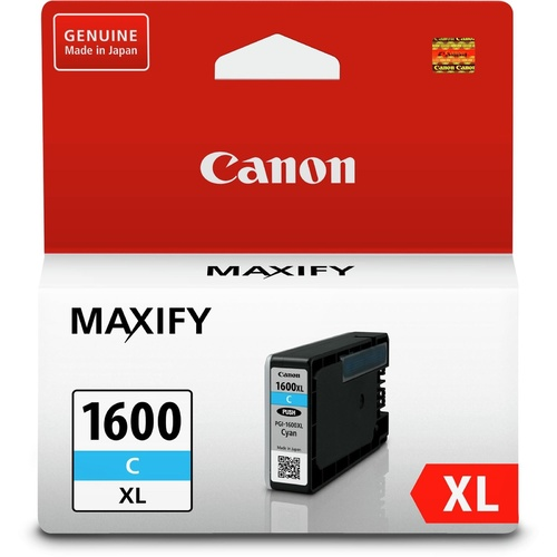 Canon Genuine PGI1600XLC Cyan Ink Tank High Yield - Cyan