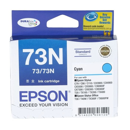 Epson  Genuine T1052 (73N) Cyan Ink Cartridge - Cyan