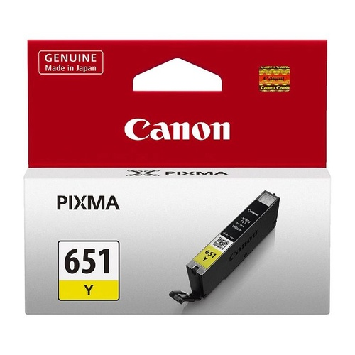 Canon Genuine CLI-651 Yellow Ink Cartridge - Yellow
