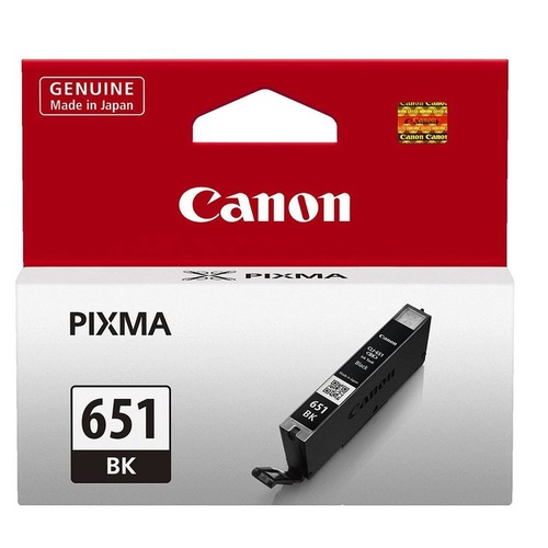 Canon Genuine CLI-651 Black Ink Cartridge - Black