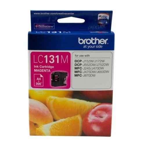 Brother Genuine LC-131M Magenta Ink Cartridge For DCPJ152W DCPJ172W DCPJ552DW - 300 Pages