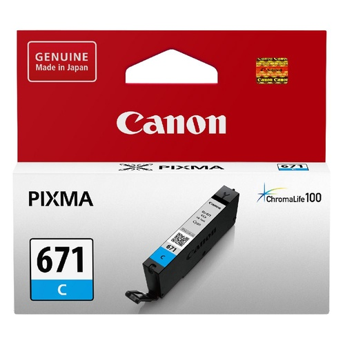 Canon Genuine CLI671 Cyan Ink Cartridge - Cyan