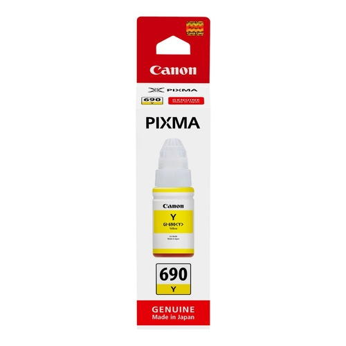 Canon Genuine GI690 Yellow Ink Bottle - Yellow